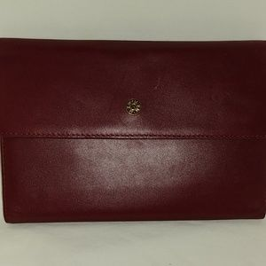 MZ Wallace New York  burgundy checkbook wallet